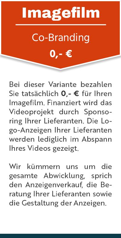 Imagefilm Preis Co-Branding